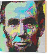 Abraham Lincoln Portrait - Abstract Wood Print