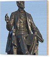 Abraham Lincoln Statue Philadelphia Wood Print