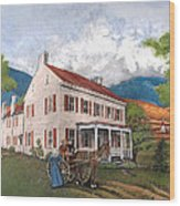 Abraham Lincoln's Ancesteral Home Wood Print