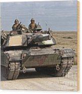 Abrams M1a1 Main Battle Tank Wood Print