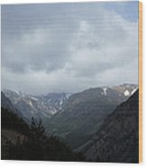 Absaroka Mountains Wood Print