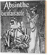 Absinthe Poster, 1892 Wood Print