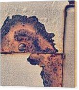 Absract Rust Wood Print