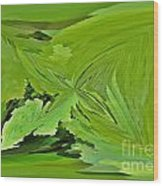 Abstract - Rectangle - Linear Verte Wood Print