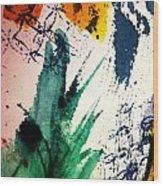 Abstract - Splashes Of Color Wood Print
