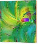 Abstract 019 Wood Print