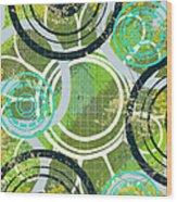 Abstract 1 Wood Print by Lisa Noneman