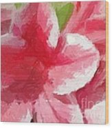 Abstract 106 Pink Painterly Flowers Wood Print