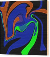 Abstract 124 Wood Print