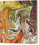 Abstract 127 Wood Print by Carol Sullivan