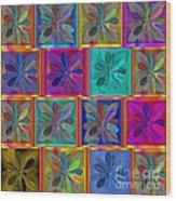 Abstract 130 Wood Print