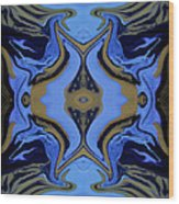 Abstract 162 Wood Print