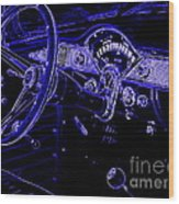 Abstract 1955 Chevy Bel Air  Wood Print