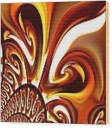 Abstract 235 Wood Print