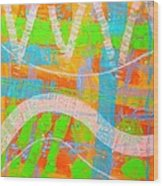 Abstract  23614   Diptych  I  Wood Print