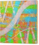 Abstract 23614  Diptych  II Wood Print