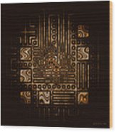 Abstract 326 Wood Print