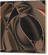 Abstract 339 Wood Print