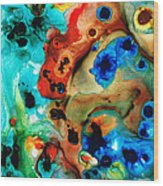 Abstract 4 - Abstract Art By Sharon Cummings Wood Print