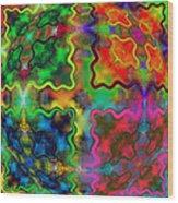 Abstract 42 Wood Print