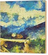Abstract 46 Wood Print
