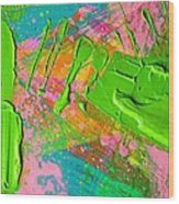 Abstract 6814 Diptych Cropped Xvi  Wood Print