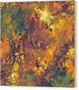 Abstract 98 Wood Print