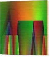 Abstract A018 Wood Print