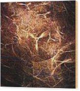 Abstract Angels Burning Sepia Wood Print