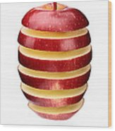 Abstract Apple Slices Wood Print