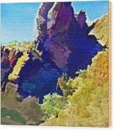 Abstract Arizona Mountain Peak In Autumn Wood Print