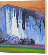 Abstract Arizona Mountains At Icy Dawn Wood Print