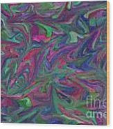 Juncture - Abstract Art Wood Print
