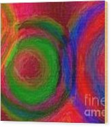 Separate Yet Together - Abstract Art  Wood Print