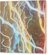 Light Painting - Abstract Art 2 Wood Print