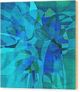 abstract - art- Blue for You Wood Print