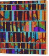 abstract - art- Color Pop  Wood Print
