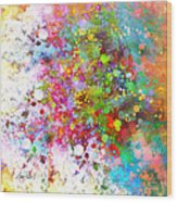 abstract art COLOR SPLASH on Square Wood Print
