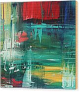 Abstract Art Colorful Original Painting Bold And Beautiful By Madart Wood Print