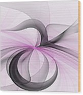 Abstract Art Fractal With Pink Wood Print