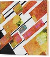 abstract art Homage to Mondrian Wood Print