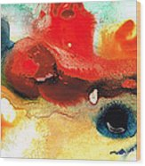 Abstract Art - No Limits - By Sharon Cummings Wood Print