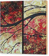 Abstract Art Original Landscape Painting Bring Me Home By Madart Wood Print by Megan Duncanson