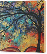 Abstract Art Original Landscape Painting Go Forth II By Madart Studios Wood Print