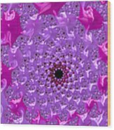 Abstract Art Radiant Orchid Pink Purple Violet Wood Print