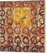 Abstract Art Sixty-six Wood Print
