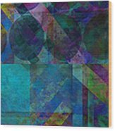 abstract - art - Stripes Five  Wood Print by Ann Powell