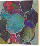 Abstract Art Torn Collage  Wood Print by Ann Powell