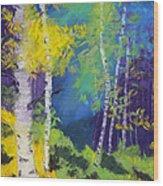 Abstract Aspens Wood Print