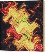 Abstract At Work Wood Print
